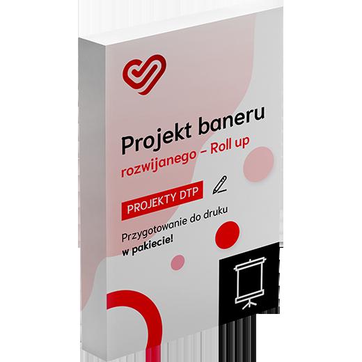 Projekt baneru rozwijanego - Roll up