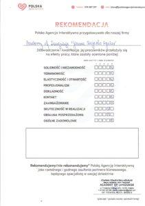 ACADEMY OF LANGUAGE rekomendacja
